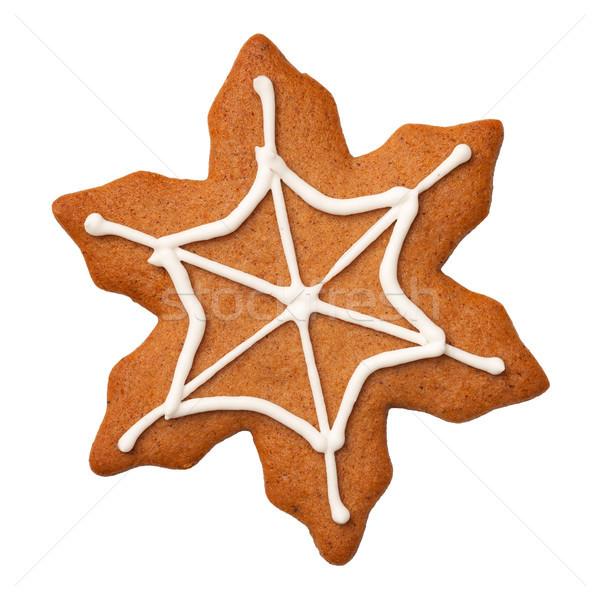 Halloween mézeskalács süti pókháló izolált fehér Stock fotó © ThreeArt