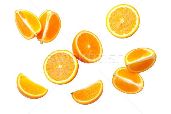 Oranje geïsoleerd witte top achtergrond Stockfoto © ThreeArt