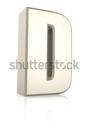 буква d изолированный белый 3d визуализации школы фон Сток-фото © ThreeArt
