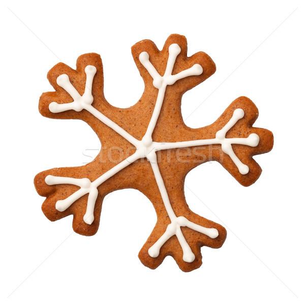 Gingerbread Snowflake Isolated on White Background Stock photo © ThreeArt