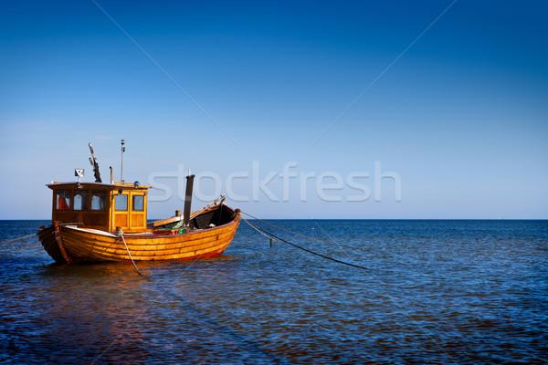 漁船 水 青 海 空 ストックフォト © ThreeArt