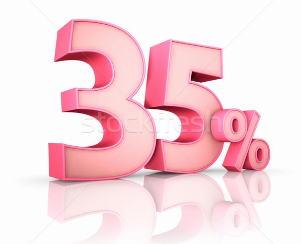 Rose trente cinquième pour cent isolé blanche Photo stock © ThreeArt