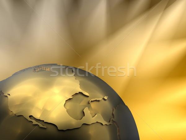 Gold Globe Close-up, North America Stock photo © ThreeArt