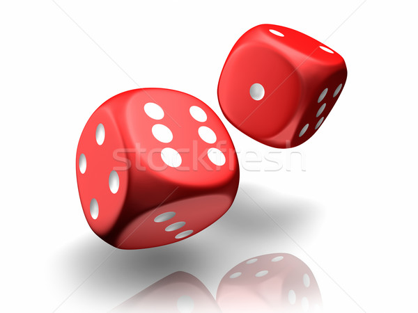 Falling Dices Stock photo © ThreeArt
