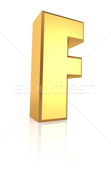 3d Letter F Stock photo © ThreeArt