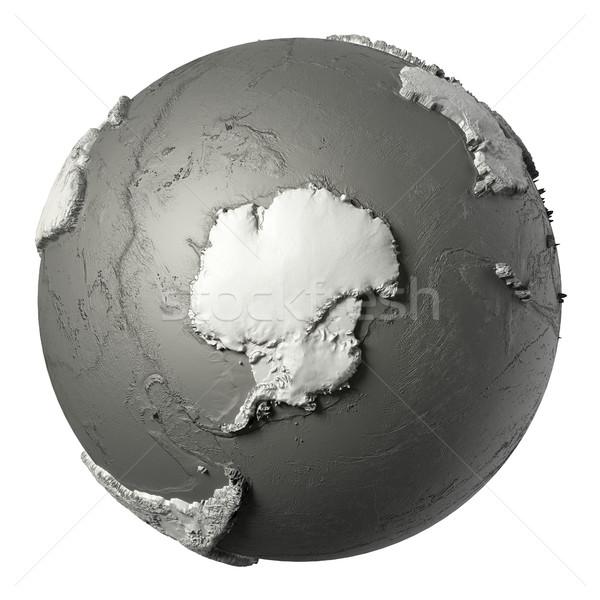 3D monde modèle détaillée topographie eau Photo stock © ThreeArt