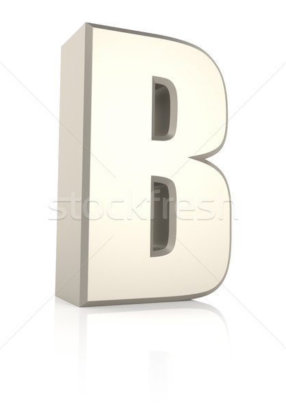 Letter B Isolated on White Background Stock photo © ThreeArt