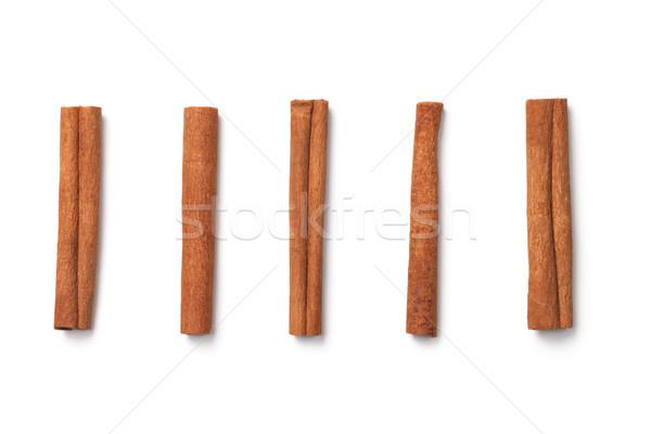 Cinnamon Sticks Isolated on White Background Stock photo © ThreeArt