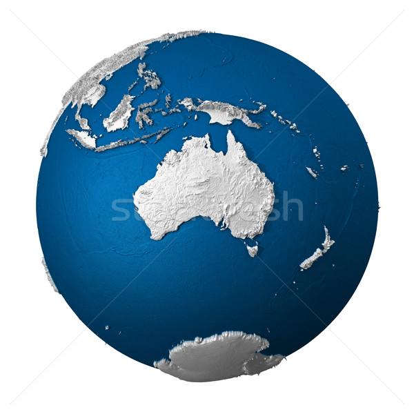 Artificial Earth - Australia Stock photo © ThreeArt