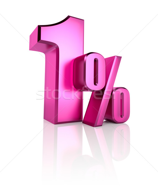 One Percent Sign Stock photo © ThreeArt