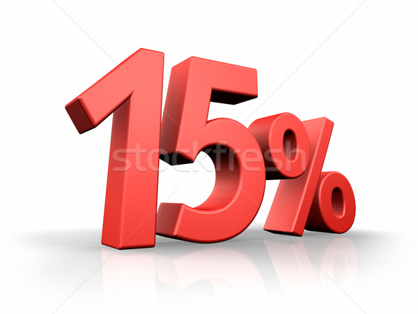 Red Fifteen Percent Stock photo © ThreeArt