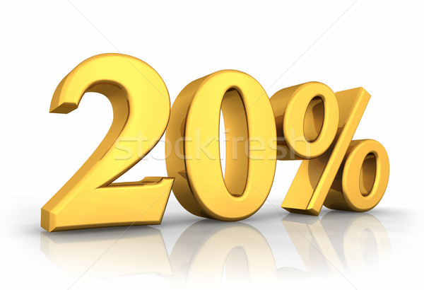 Gold Twenty Percent Stock photo © ThreeArt