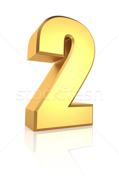 3d Number 2 Stock photo © ThreeArt
