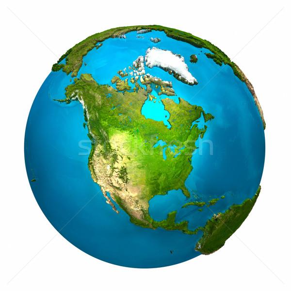Planet Earth - North America Stock photo © ThreeArt
