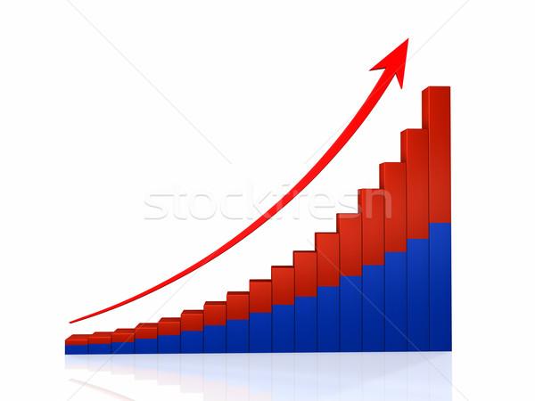 Growth Graph With Arrow Stock photo © ThreeArt