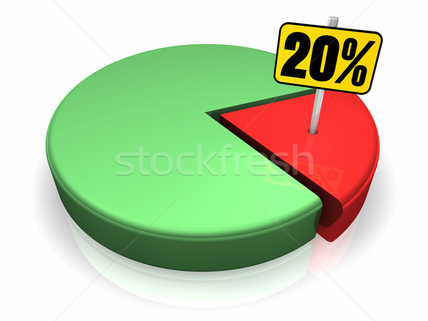 Pie Chart 20 Percent Stock photo © ThreeArt