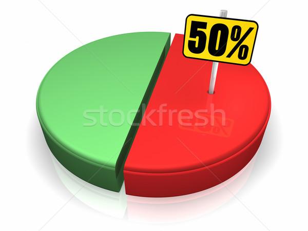 50 процент пятьдесят знак 3d визуализации Сток-фото © ThreeArt