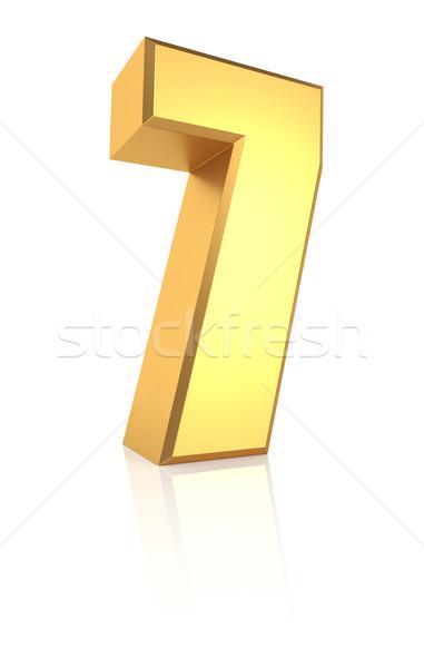 3d Number 7 Stock photo © ThreeArt