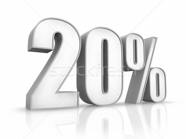 White Twenty Percent Stock photo © ThreeArt