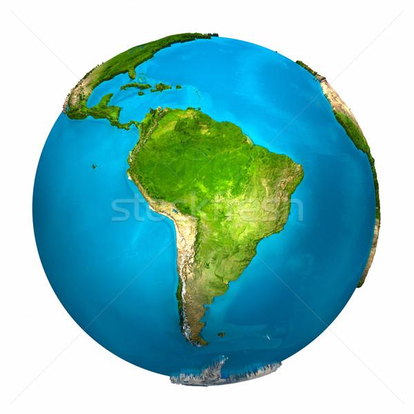 Planet Earth - South America Stock photo © ThreeArt