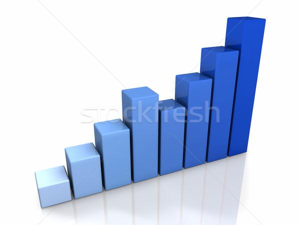 3D Blue Graph Stock photo © ThreeArt