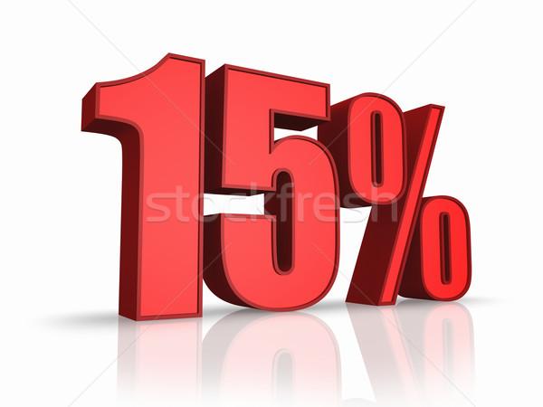 Piros tizenöt százalék izolált fehér 15 Stock fotó © ThreeArt