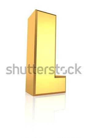 Stock photo: 3d Letter L