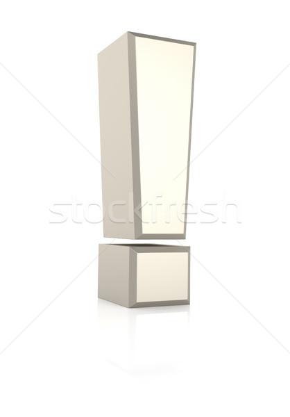 Signo blanco aislado 3d metal carta Foto stock © ThreeArt