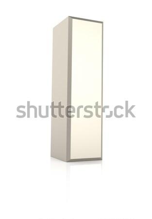 Letter i geïsoleerd witte 3d render school achtergrond Stockfoto © ThreeArt