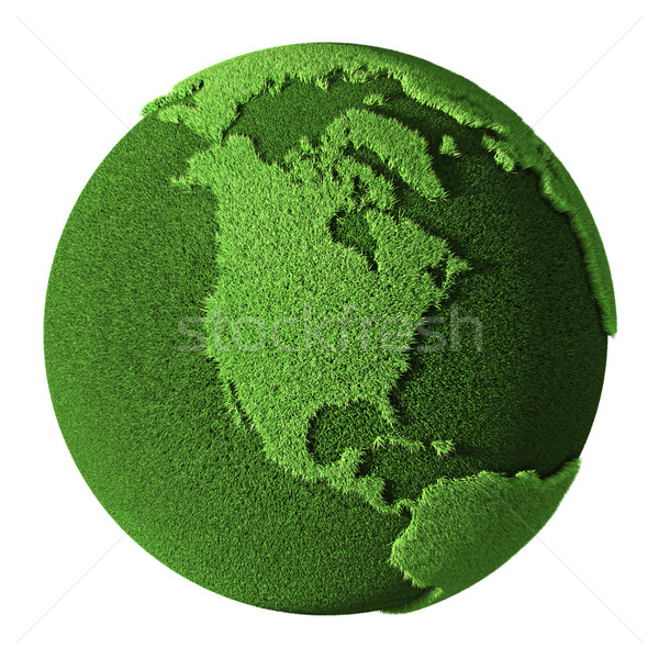 Grass Globe - North America Stock photo © ThreeArt