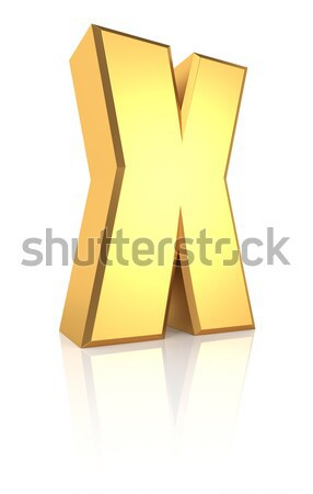 Letter X Isolated on White Background Stock photo © ThreeArt