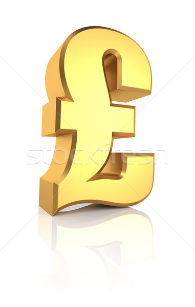 3D Gold Pound Sign Stock photo © ThreeArt