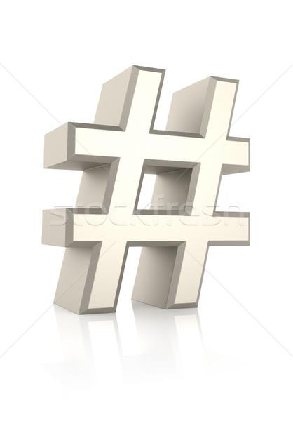 Hash Sign Ioslated on White Background Stock photo © ThreeArt