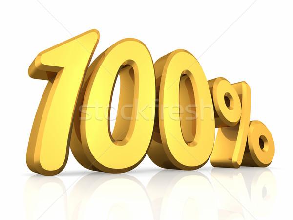 Oro cento cento uno isolato bianco Foto d'archivio © ThreeArt