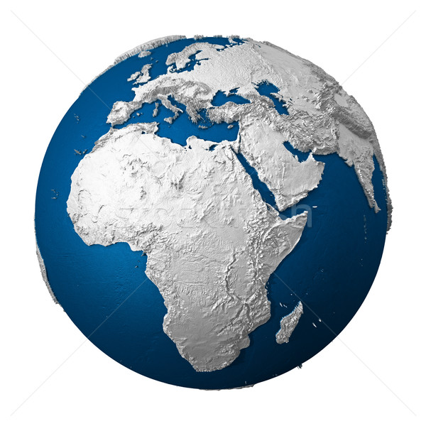 Artificial Earth - Africa Stock photo © ThreeArt