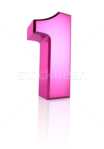 Pink Number 1 Stock photo © ThreeArt