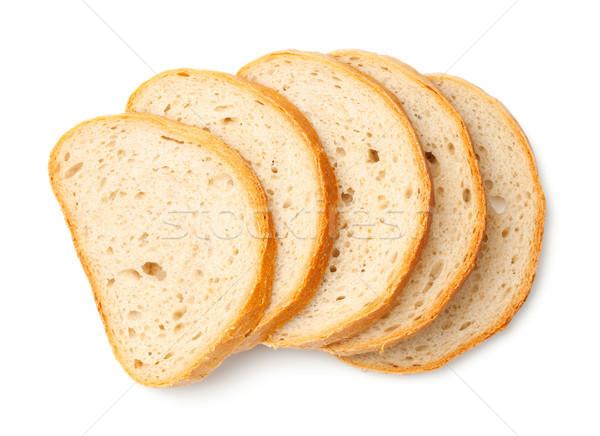 Dilimleri ekmek yalıtılmış beyaz üst görmek Stok fotoğraf © ThreeArt