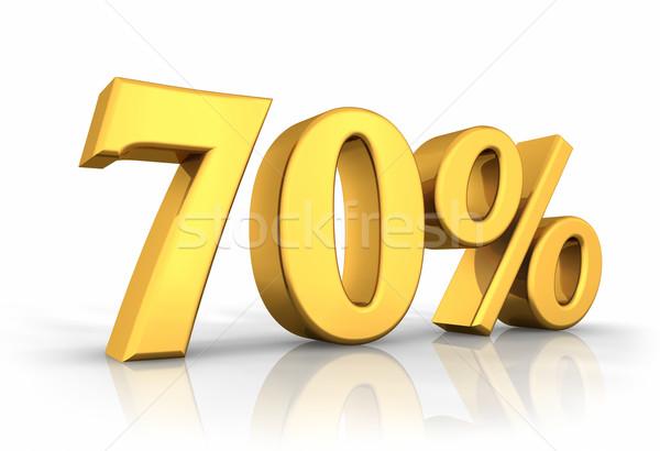 Gold Seventy Percent Stock photo © ThreeArt