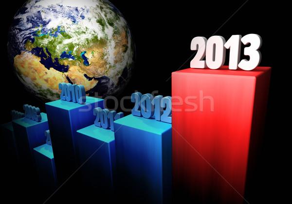 Działalności 2013 Europie asia wykres globalny Zdjęcia stock © ThreeArt