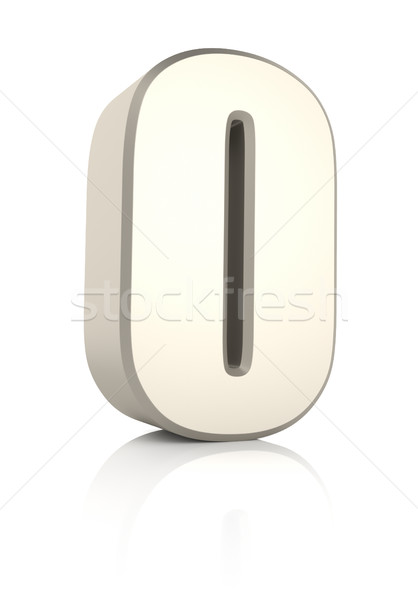 Number 0 Isolated on White Background Stock photo © ThreeArt