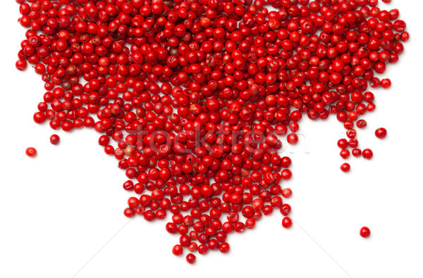 Pink Pepper. Red Peppercorns Isolated on White Background Stock photo © ThreeArt