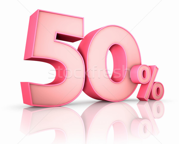 Stock photo: Pink Fifty Percent