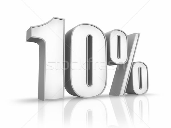 Stock fotó: Fehér · tíz · százalék · izolált · 10 · pénzügy