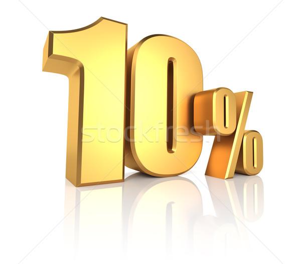 Gold 10 Percent Stock photo © ThreeArt