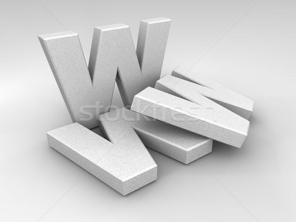 Stein www Briefe 3d render Computer abstrakten Stock foto © ThreeArt