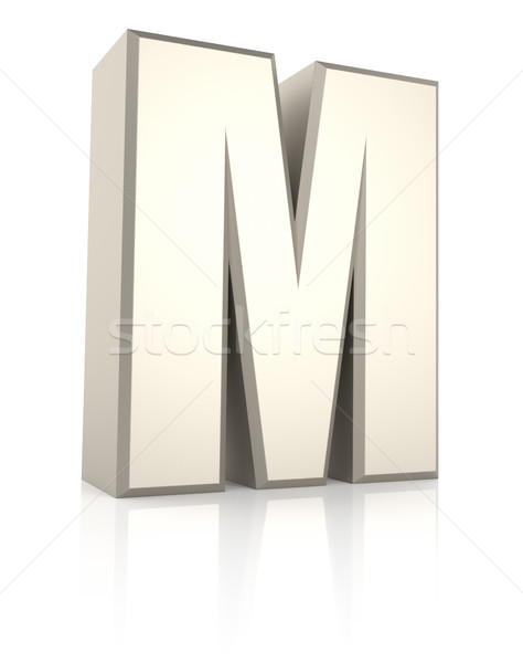 Letter M Isolated on White Background Stock photo © ThreeArt
