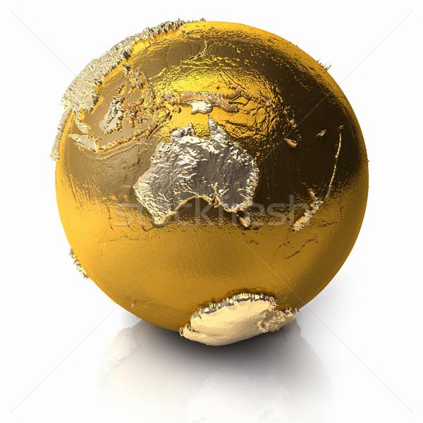 Gold Globe - Australia Stock photo © ThreeArt