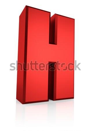 3D letter l Rood geïsoleerd witte Stockfoto © ThreeArt
