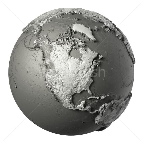 3D dünya kuzey Amerika model ayrıntılı Stok fotoğraf © ThreeArt