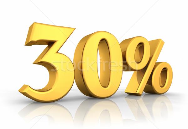 Goud dertig procent geïsoleerd witte 30 Stockfoto © ThreeArt